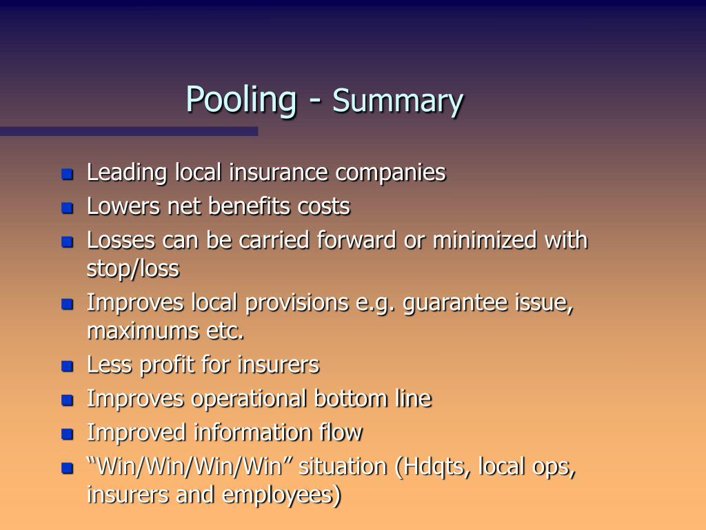 Pooling -