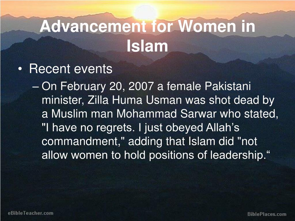 Advancement for Women in Islam