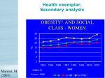 health exemplar secondary analysis21