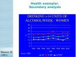 health exemplar secondary analysis23