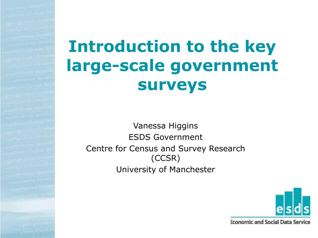 introduction to the key large scale government surveys l.