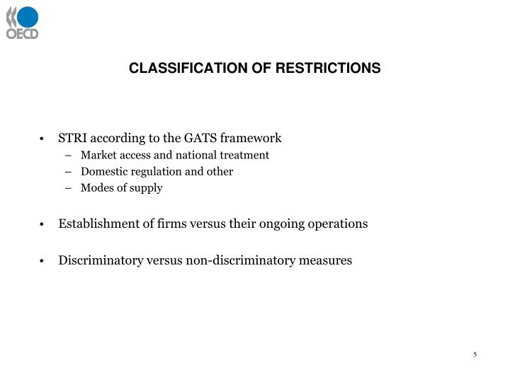CLASSIFICATION OF RESTRICTIONS
