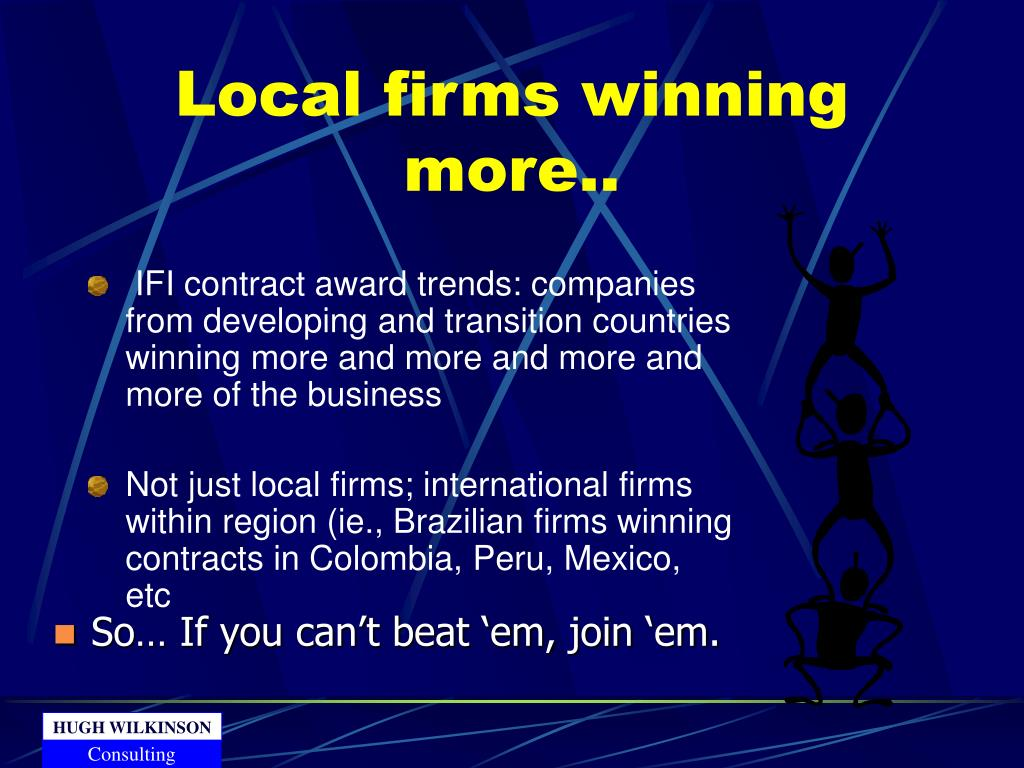 Local firms winning more..