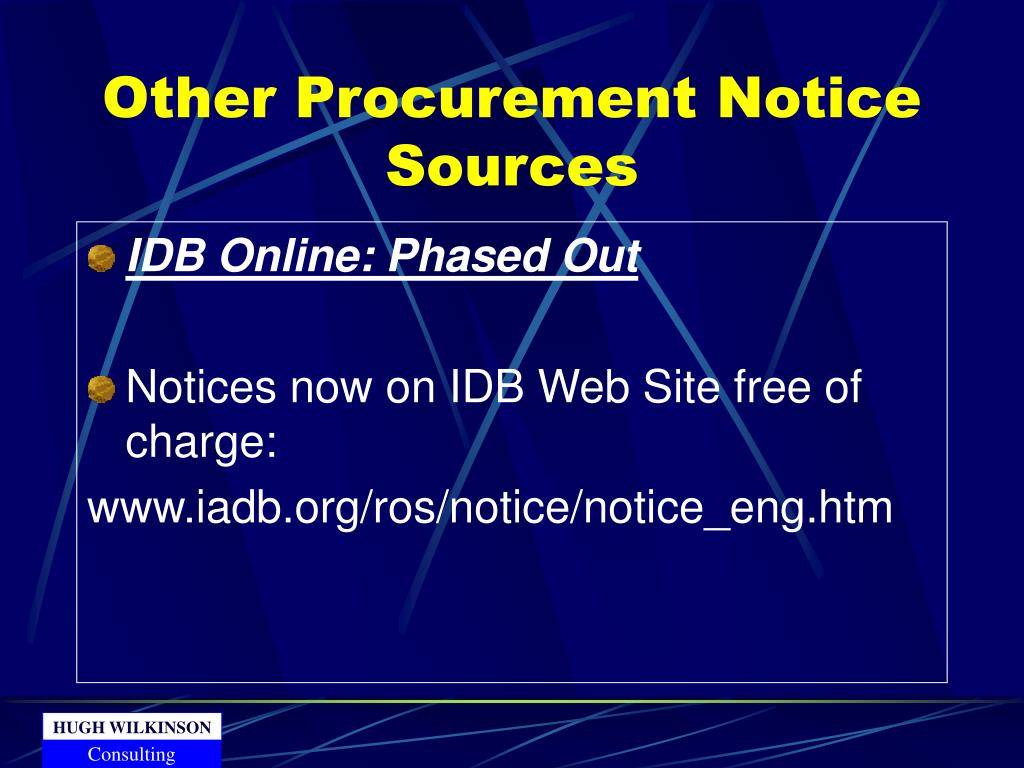 Other Procurement Notice Sources