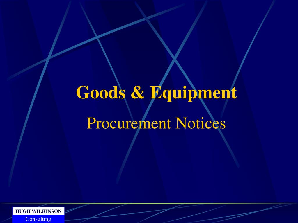 Goods & Equipment