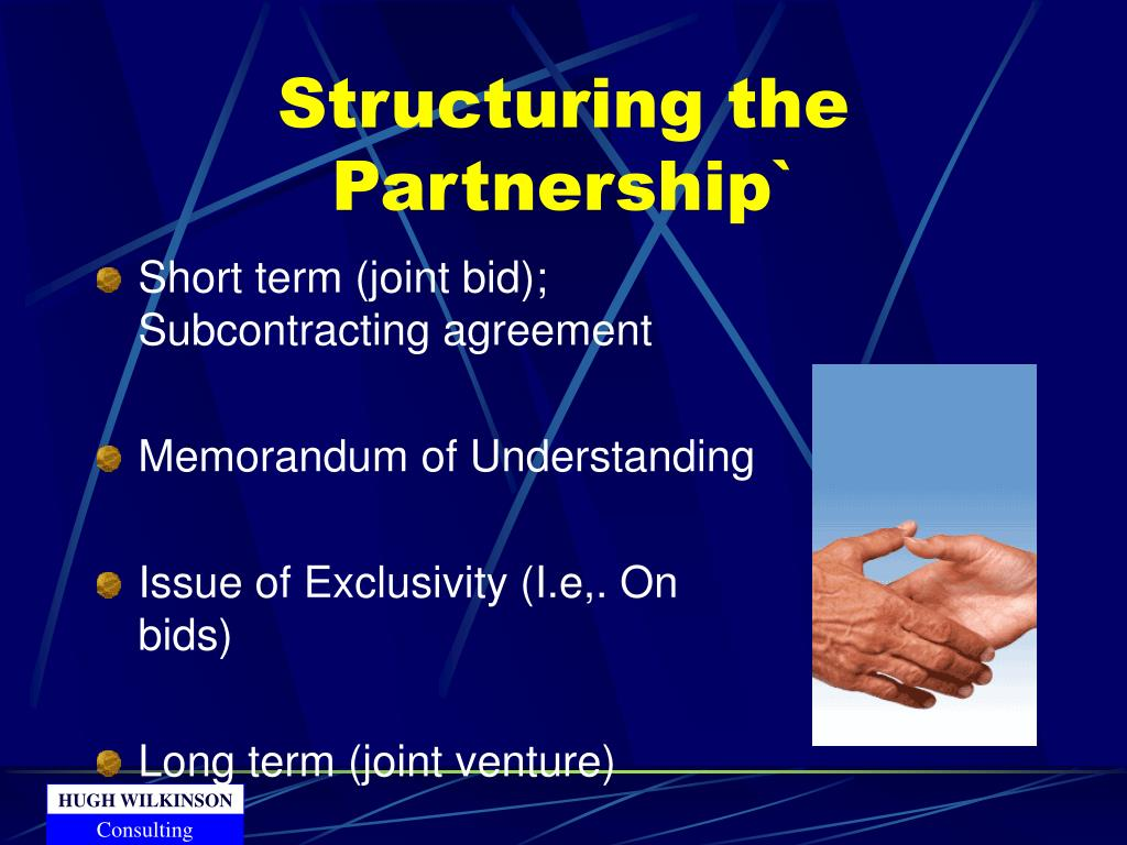 Structuring the Partnership`