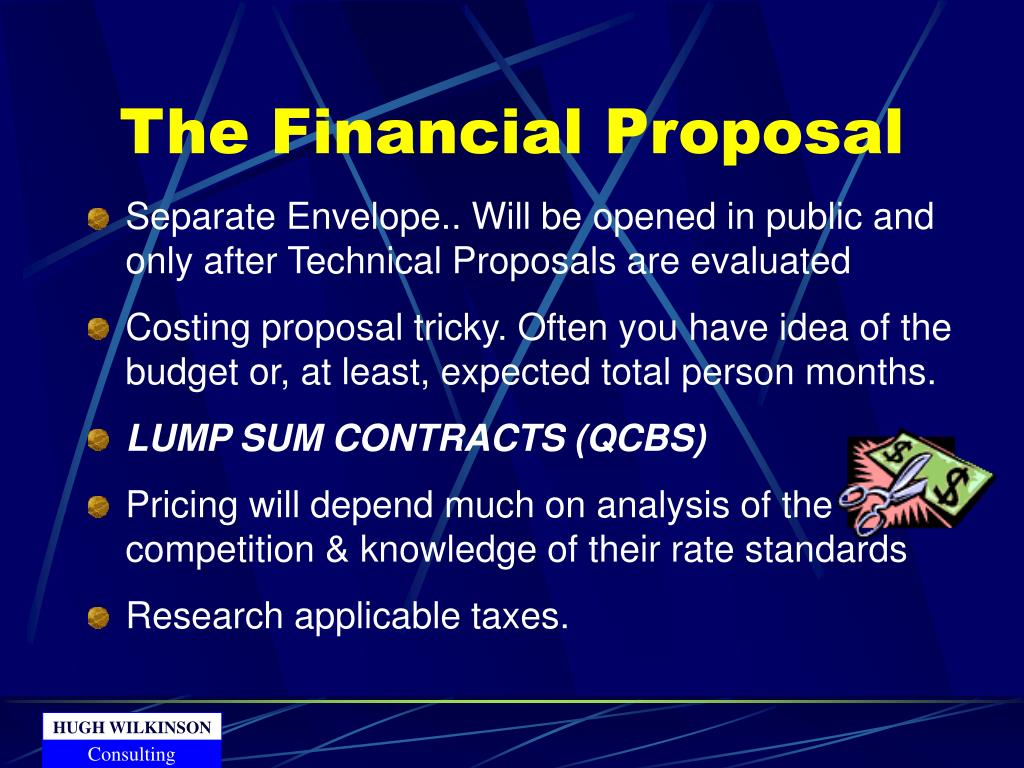 The Financial Proposal