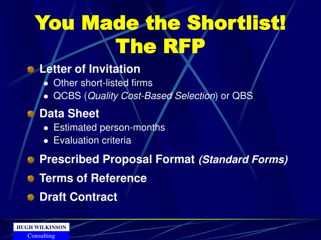 You Made the Shortlist! The RFP