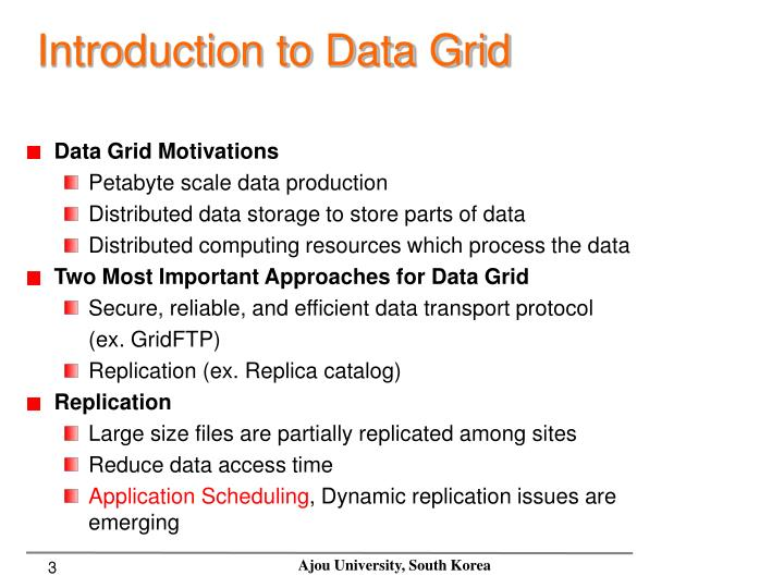 Introduction to data grid
