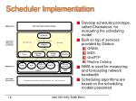 scheduler implementation