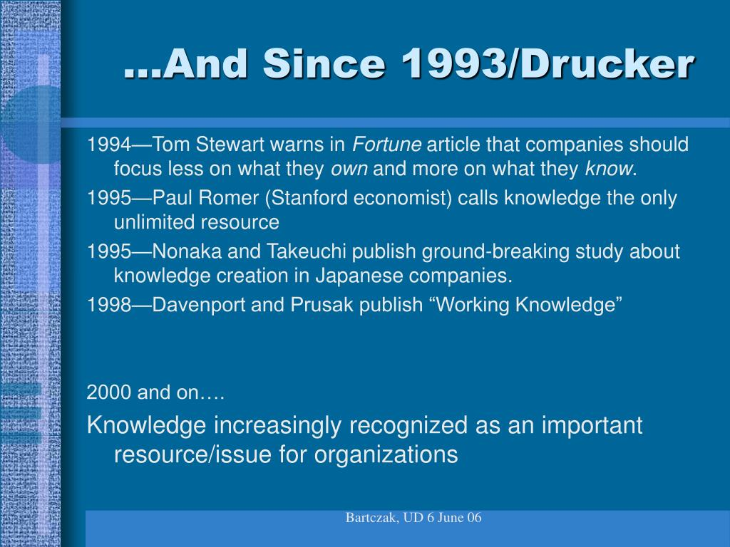 …And Since 1993/Drucker