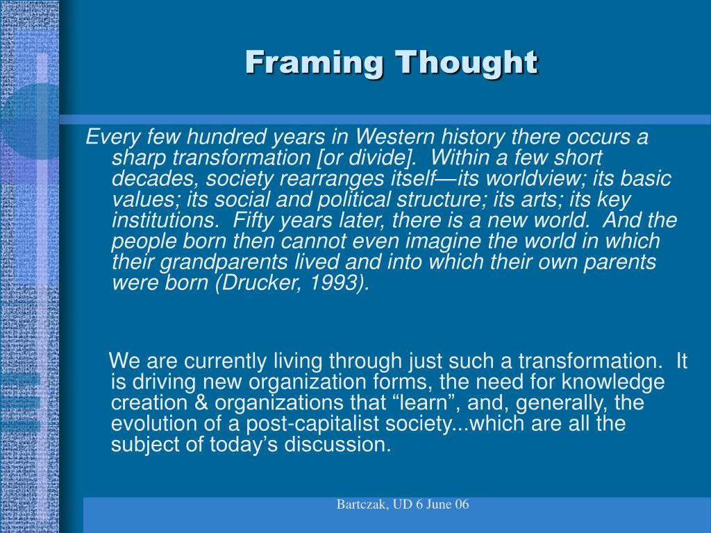 Framing Thought