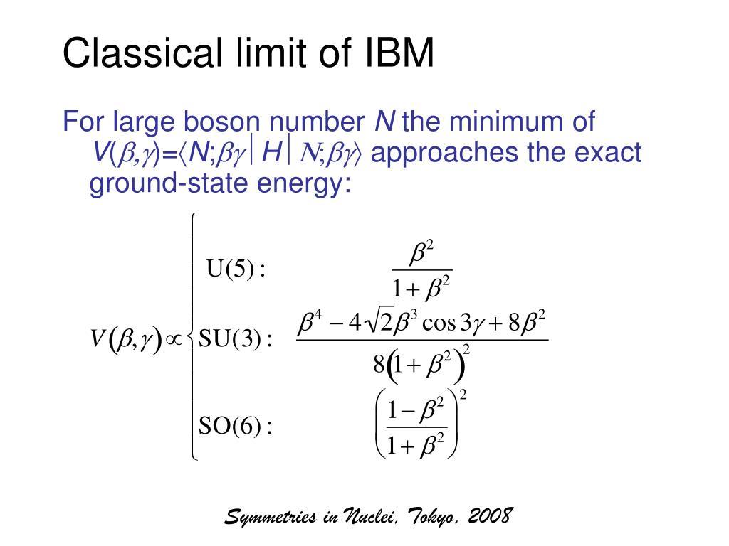 Classical limit of IBM