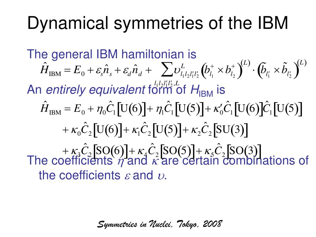 Dynamical symmetries of the IBM