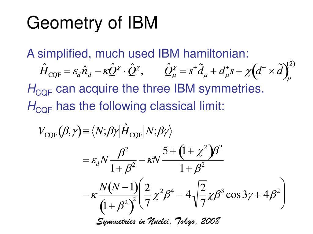Geometry of IBM