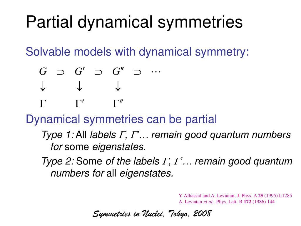 Partial dynamical symmetries