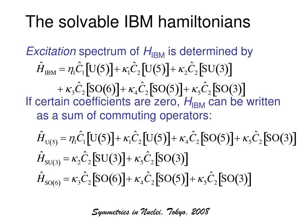The solvable IBM hamiltonians