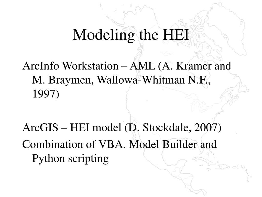 Modeling the HEI