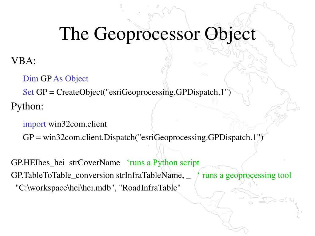 The Geoprocessor Object