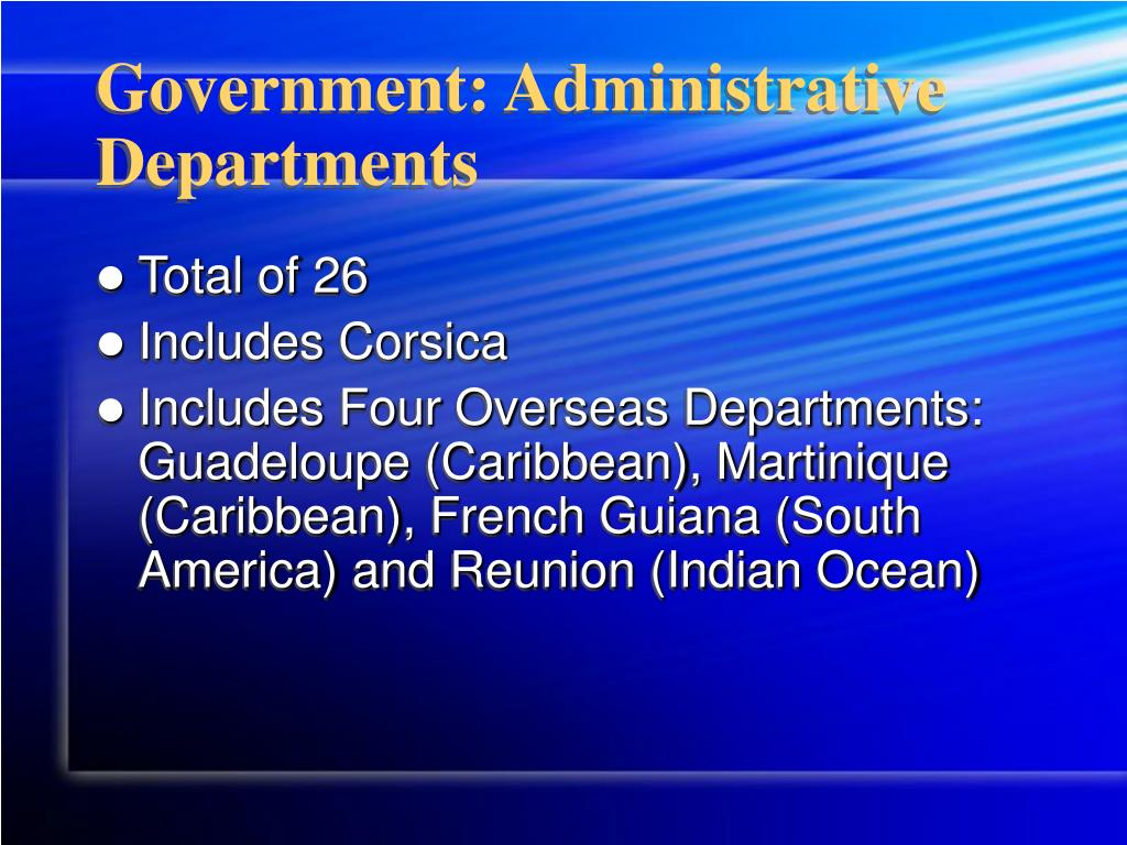 Government: Administrative Departments