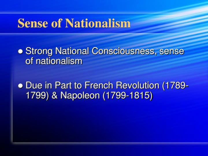 Sense of nationalism