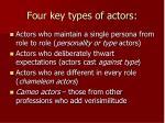 four key types of actors