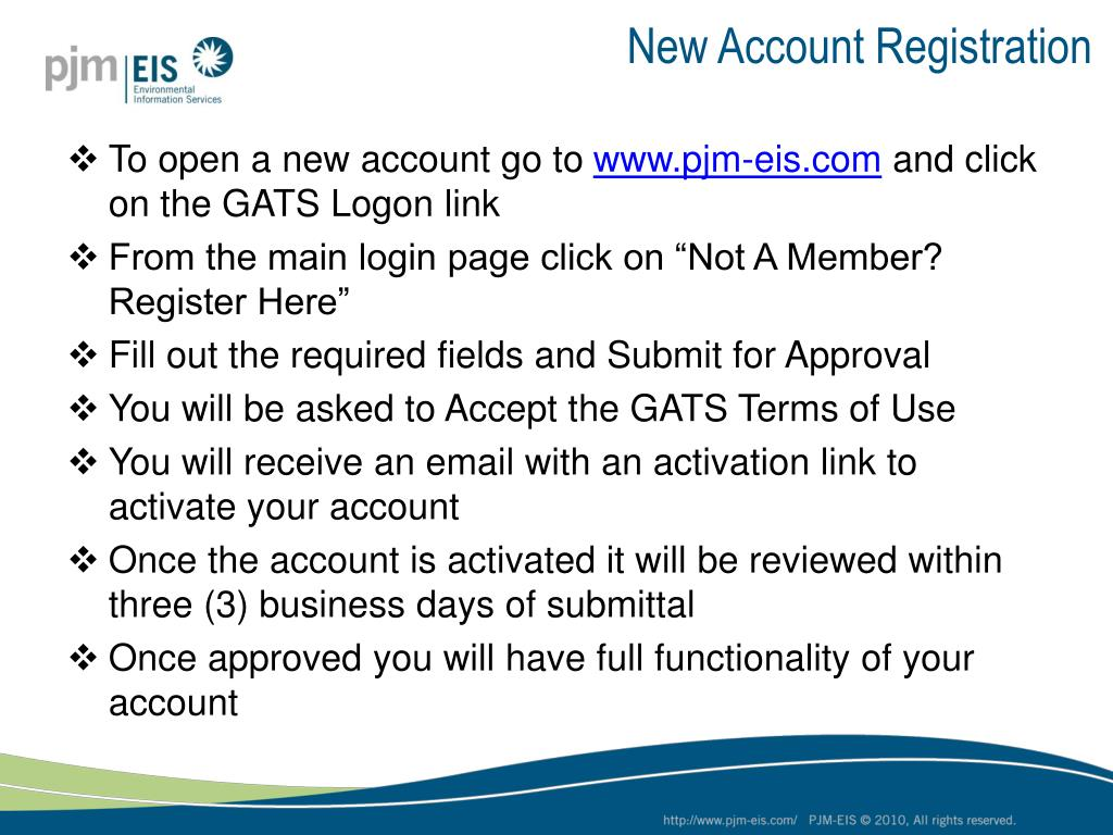 New Account Registration