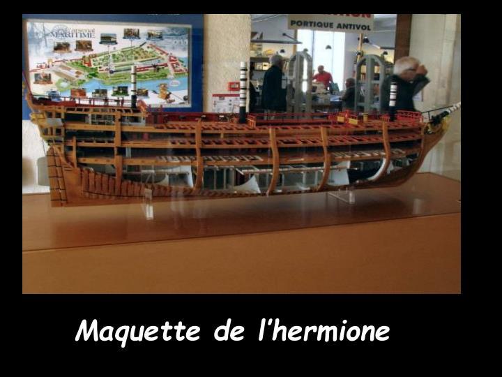 Maquette de l'hermione