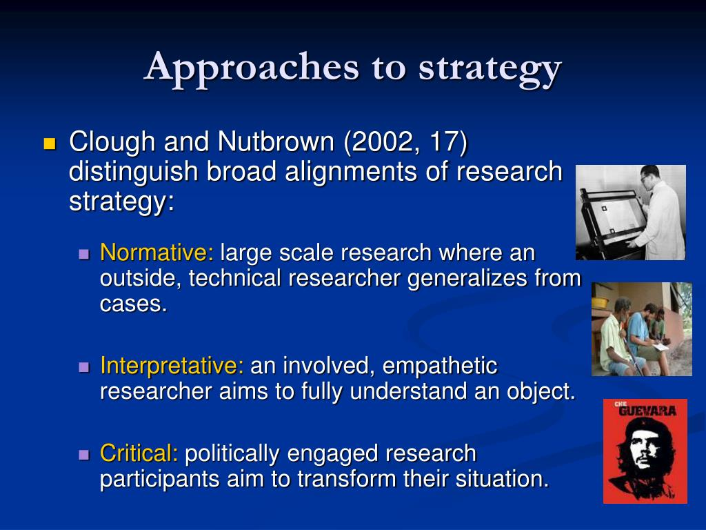 Approaches to strategy