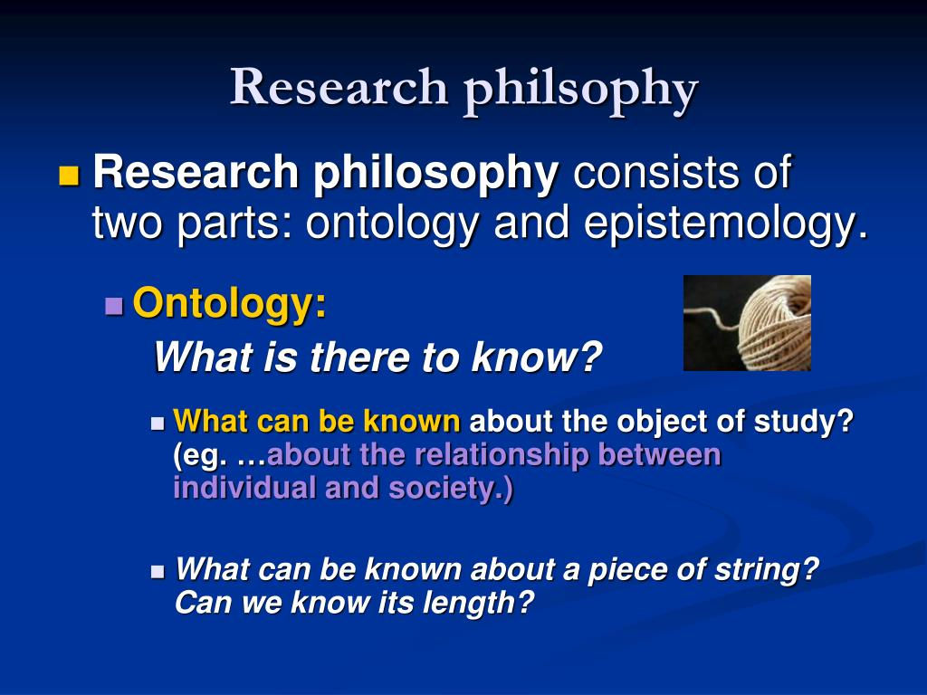 Research philsophy