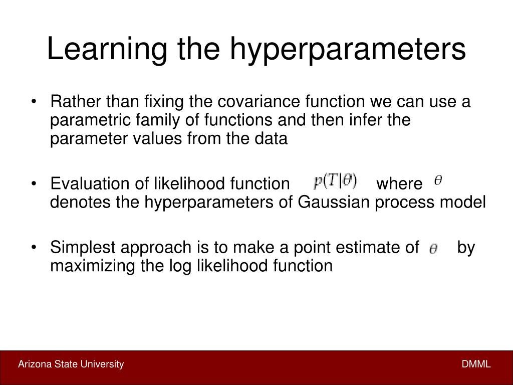 Learning the hyperparameters