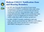rulison cogcc notification zone and hearing boundary