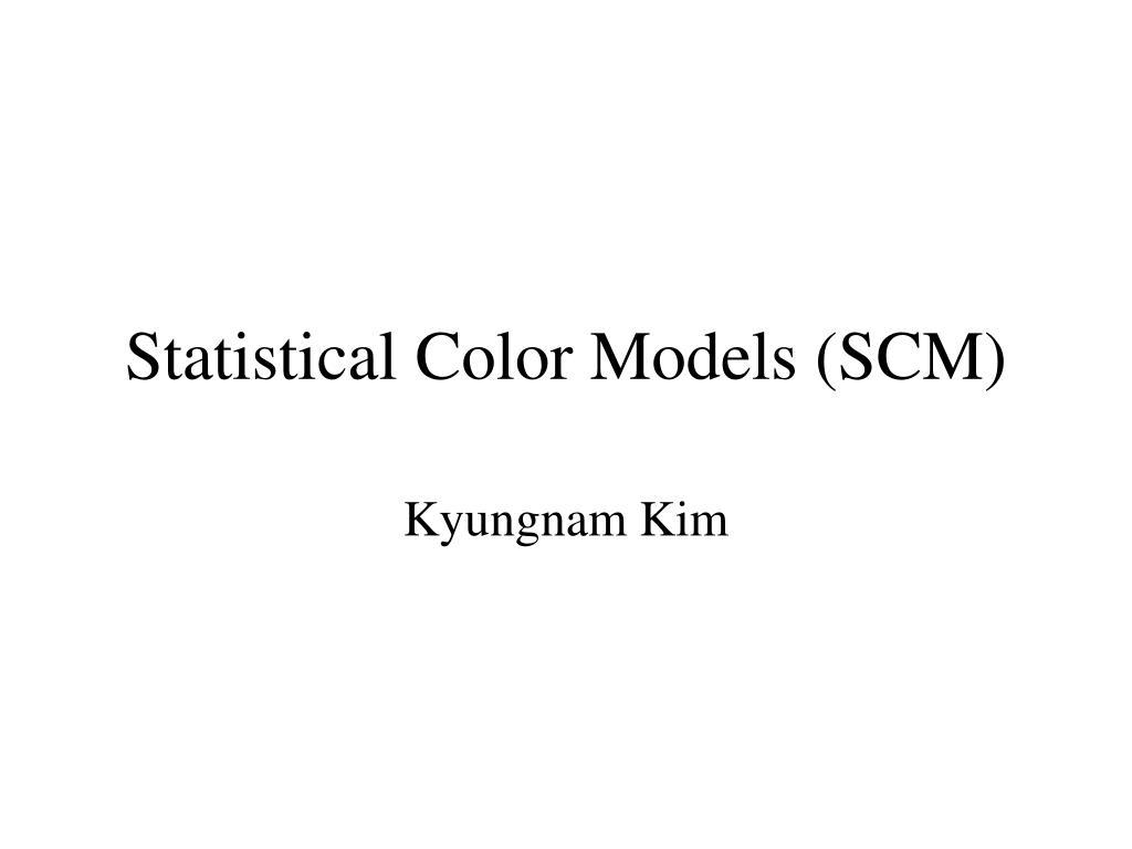 statistical color models scm