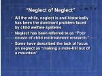 neglect of neglect13