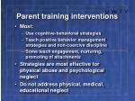 parent training interventions