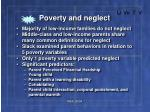 poverty and neglect