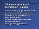 principles for neglect intervention gaudin