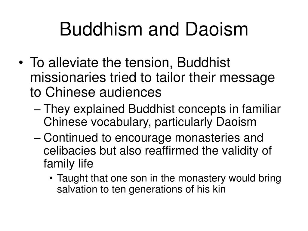 Buddhism and Daoism