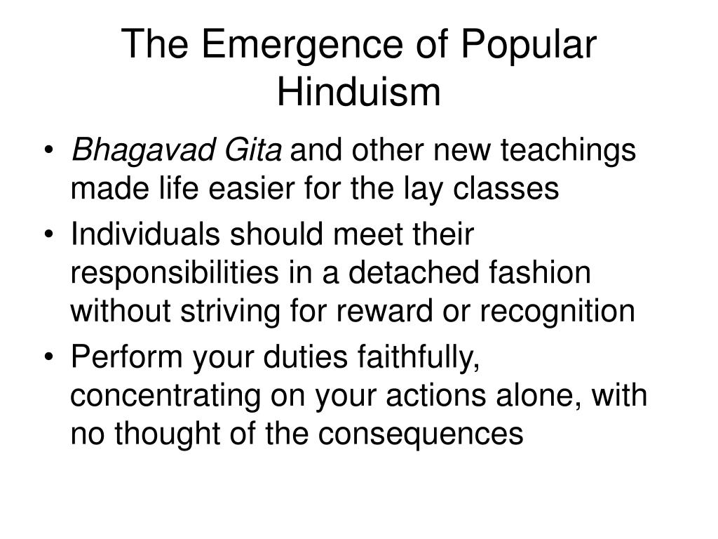 The Emergence of Popular Hinduism