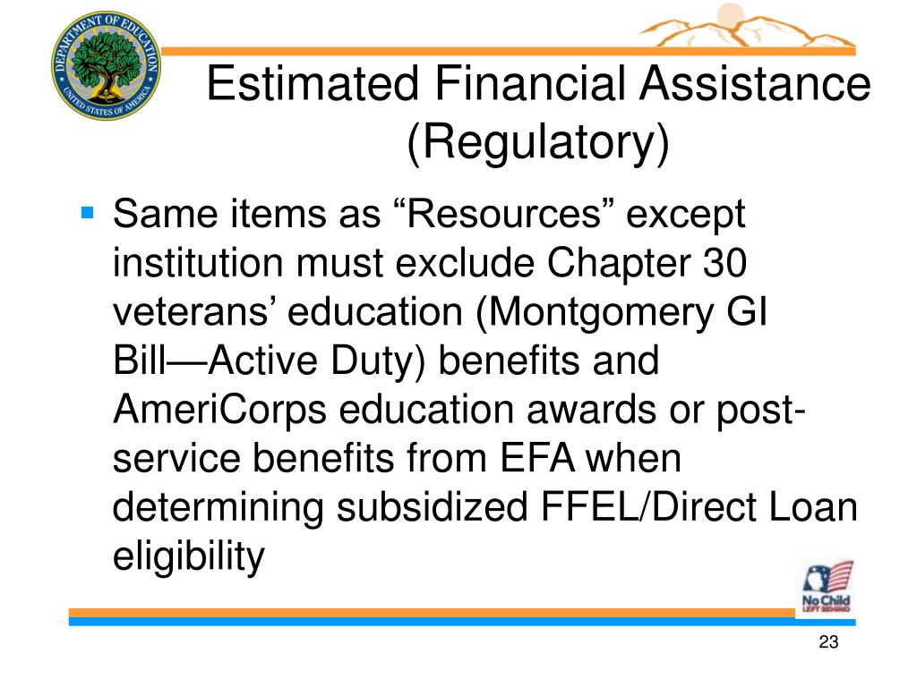 Estimated Financial Assistance (Regulatory)