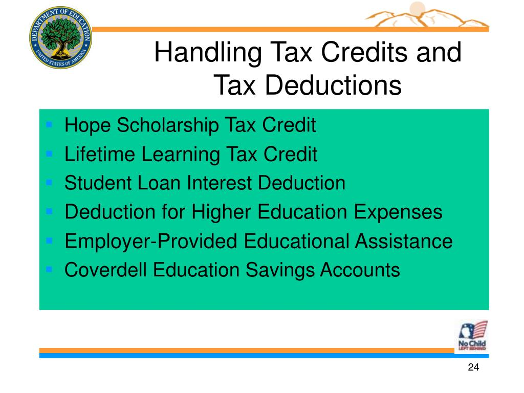 Handling Tax Credits and