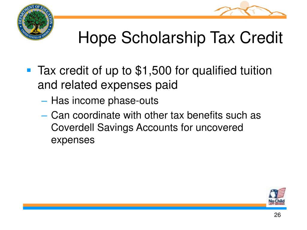 Hope Scholarship Tax Credit