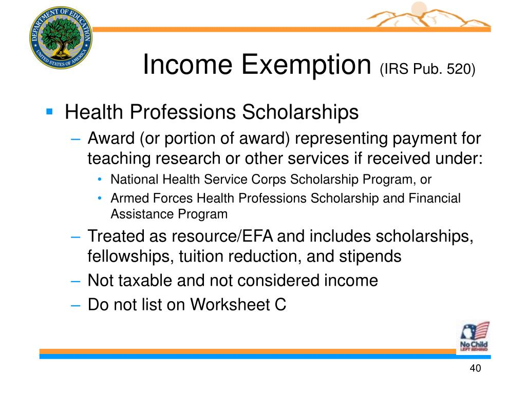 Income Exemption