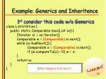 example generics and inheritence