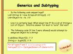 generics and subtyping