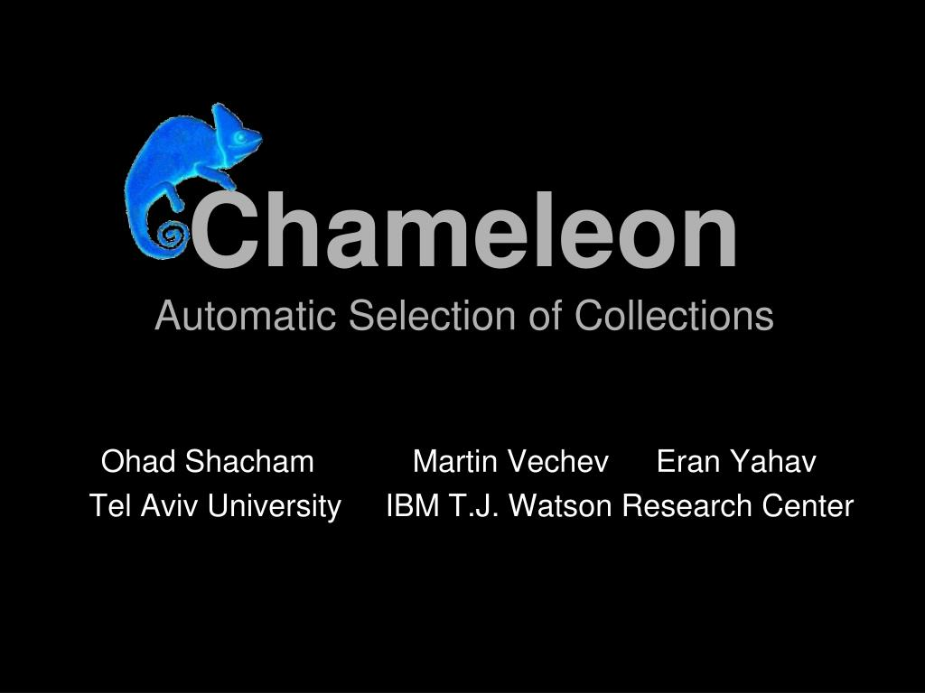 chameleon automatic selection of collections l.