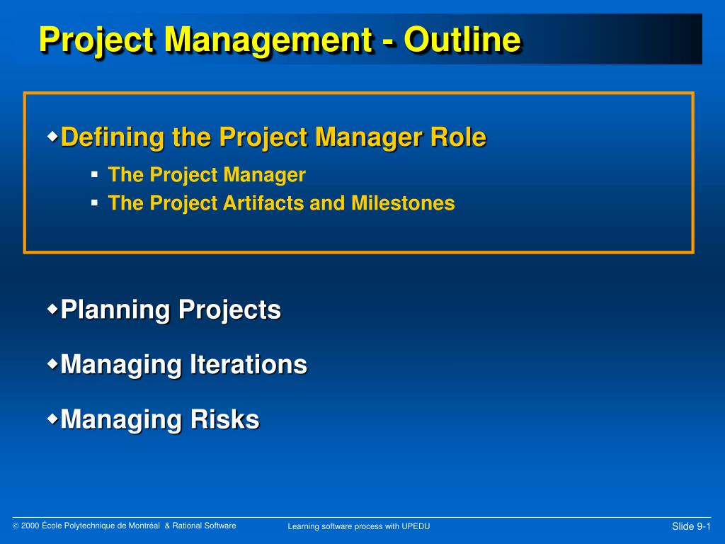 PPT - Project Management - Outline PowerPoint Presentation - ID:362633
