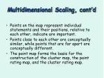 multidimensional scaling cont d