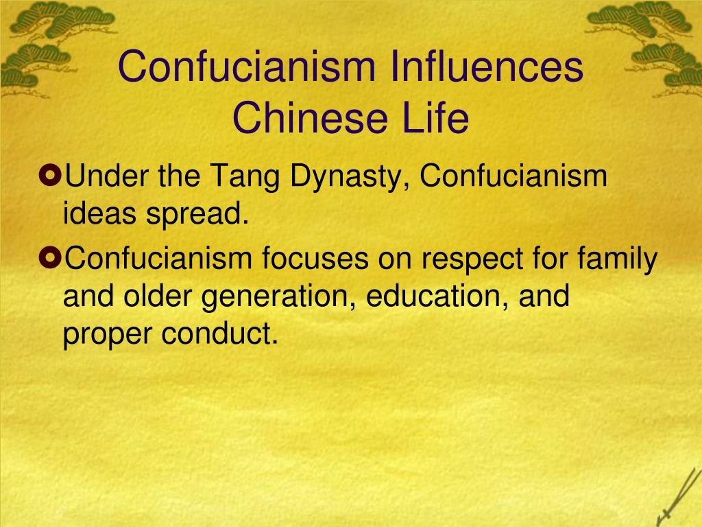 Confucianism Influences Chinese Life