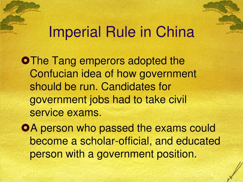 Imperial Rule in China